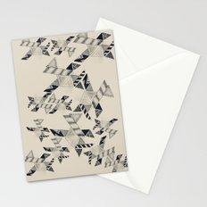 B&W Aztec pattern illustration Stationery Cards