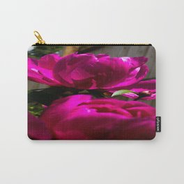 Backyard Peonies Carry-All Pouch