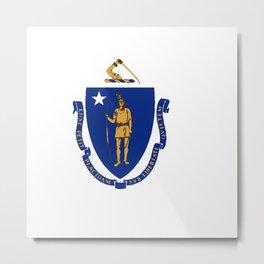 Flag of Massachusetts Metal Print