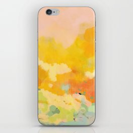 abstract spring sun iPhone Skin