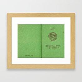 Soviet prove Framed Art Print