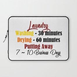 Funny Laundry Lazy Bum Hate Chores Honest Truth Meme Laptop Sleeve