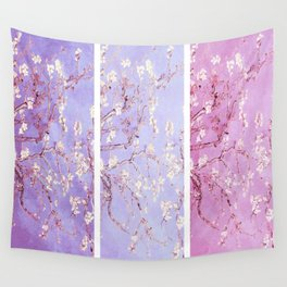 Vincent Van Gogh : Almond Blossoms Lavender Panel Art Wall Tapestry