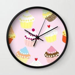 I Love Cupcakes Wall Clock
