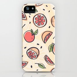 Red Grapefruit for Breakfast iPhone Case