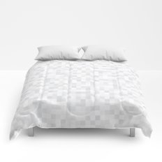 White Cubism Comforters