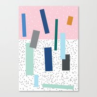 friday Canvas Prints featuring Friday by Mimmi Wide