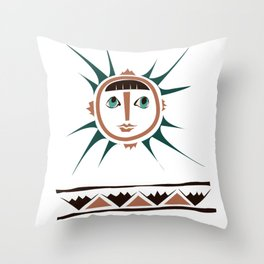 Elments-Fire/Sun Throw Pillow