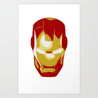 ironman Art Prints featuring Ironman by Adel