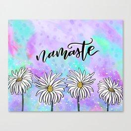 Namaste Daisies Canvas Print