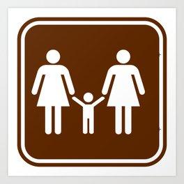 "Urban Picotgrams ""Family Women"" Art Print"