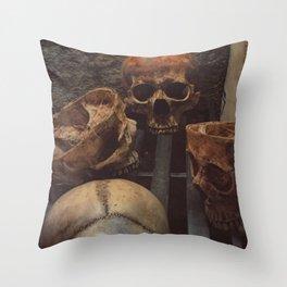 Catacomb Culture - Human Skull Basement Throw Pillow