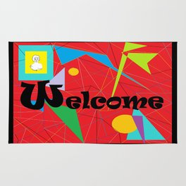 American Sign Language ASL WELCOME Rug