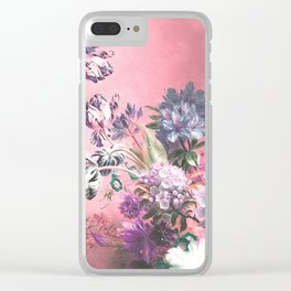 Pink Misty Master Floral Clear iPhone Case
