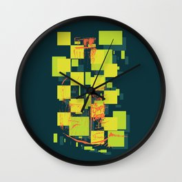 Color Orange Juice Illustration Wall Clock