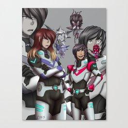 Cora Zone and THQ Voltron Crosover Canvas Print