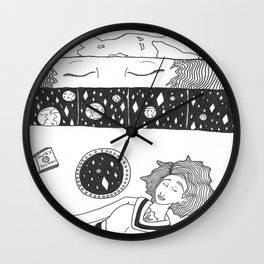 Space Bound Comic Panel Wall Clock