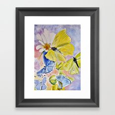Springfluttering Framed Art Print