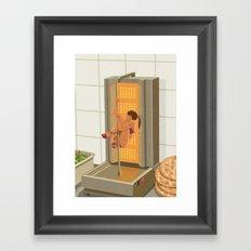 Donna kebab Framed Art Print