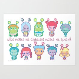 What Makes Me Different Makes Me Special Art Print