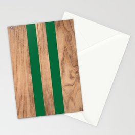 Wood Grain Stripes Green #319 Stationery Cards