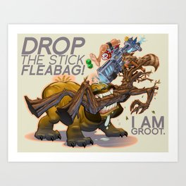 Drop the Stick Fleabag! Art Print