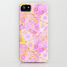 Pastel Patchwork Flower Garden, Soft Lavender, Lilac Purple and Pink Floral Quilt Repeat Pattern iPhone Case
