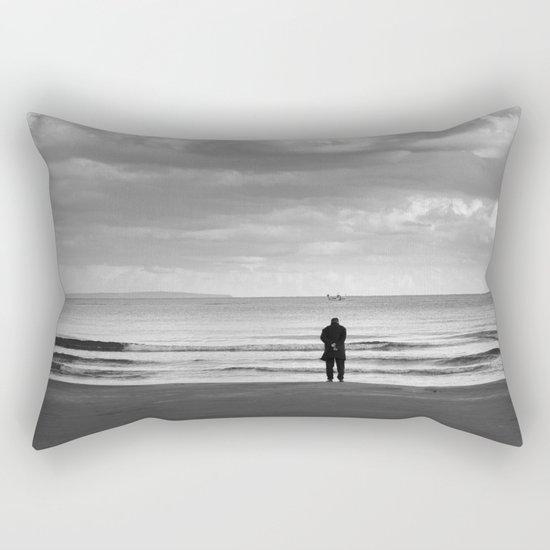 BEACH DAYS XXV BW MAN SILHOUETTE Rectangular Pillow
