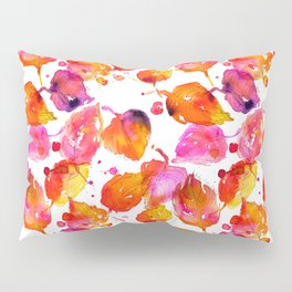 Watercolor fall linden leaves Pillow Sham