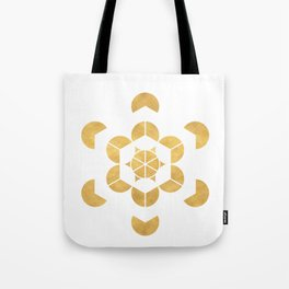HEXAHEDRON CUBE sacred geometry Tote Bag