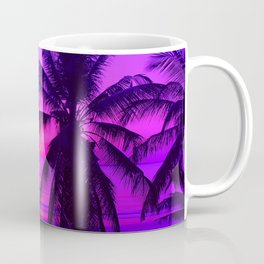 Pink Palm Trees by the Indian Ocean Coffee Mug