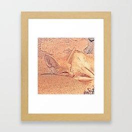 Sketchy Fennec Fox Framed Art Print
