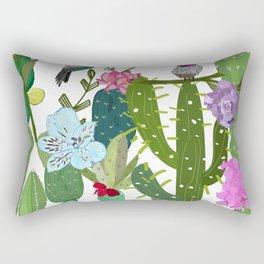 Cactus, succulents and humming bird. Tropical pattern Rectangular Pillow