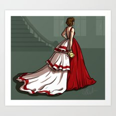 Red Gown Art Print