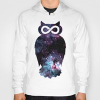 Hoodies featuring Super Cosmic Owlfinity by Jonah Makes Artstuff