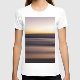Sunset Pastel Color Ombre Fine Art Motion Waves Ocean Beach Seascape Landscape Lustre Framed Print T-shirt