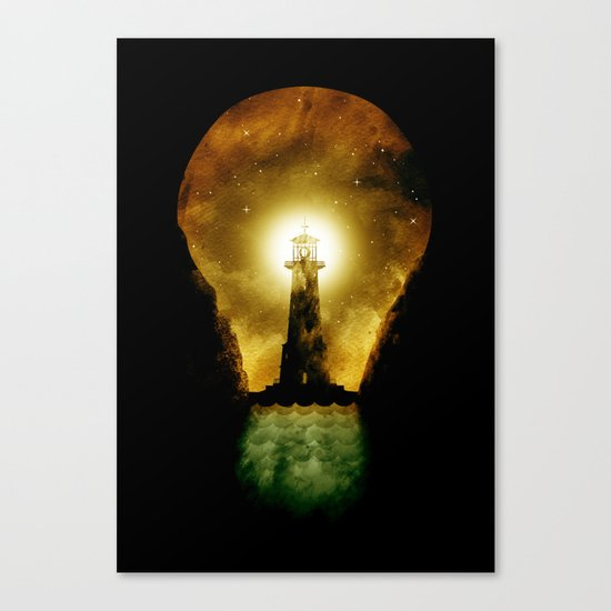 reach for the light Canvas Print