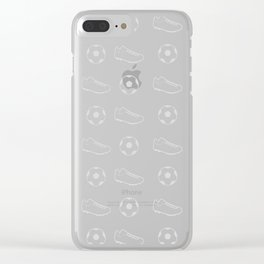 The Soccer Pattern Clear iPhone Case