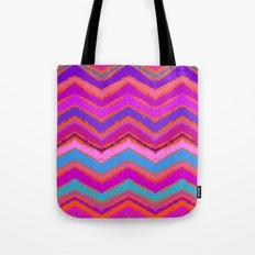 Purple zigzag Tote Bag