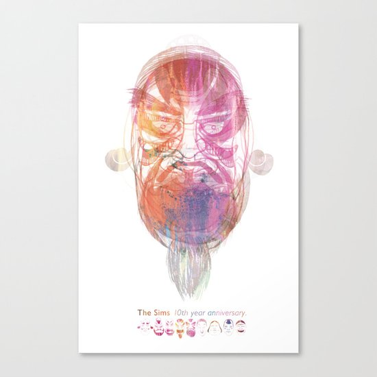 Characteristic Masks Canvas Print