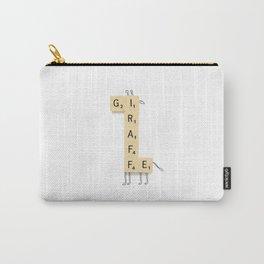 Giraffe Scrabble Carry-All Pouch