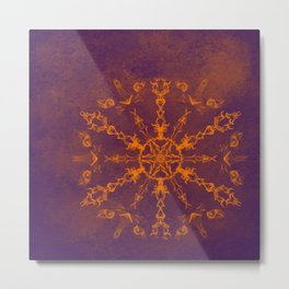 Fire wheel kaleidoscope Metal Print