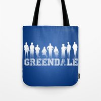 community Tote Bags featuring Community - Greendale Community College by Jackdoc
