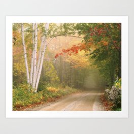 Cilley Hill Road, Underhill VT. Art Print