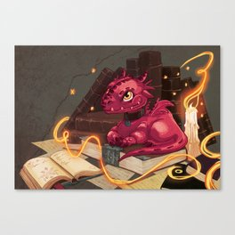 The Dragon Library Canvas Print