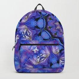 Summer sky Delphinium mandala Backpack
