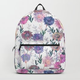 Gillian Floral White Backpack