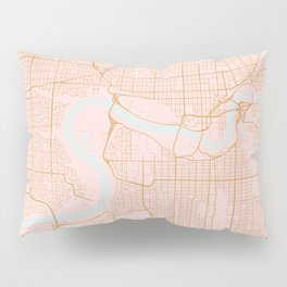 Edmonton map, Canada Pillow Sham