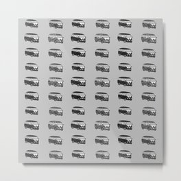 Grey camper pattern Metal Print