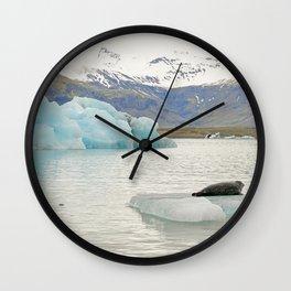The Majesty of Jökulsárlón glacier lagoon - Fine Arts Travel Photography Wall Clock